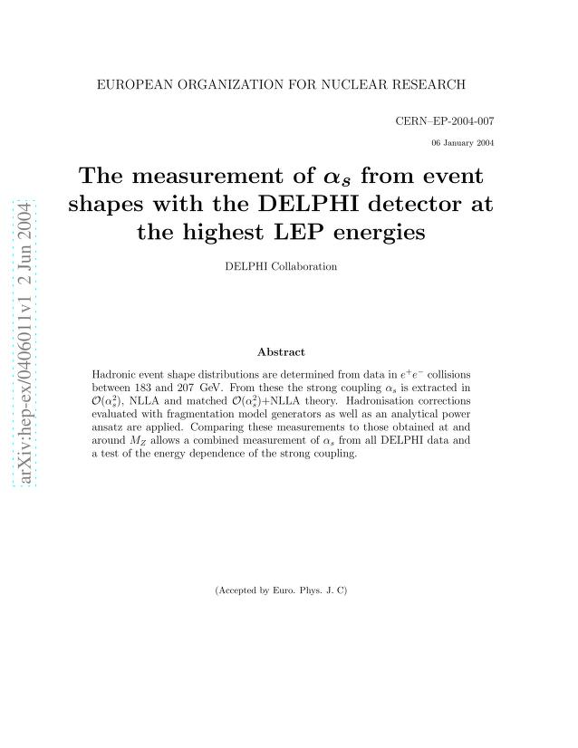 The DELPHI Collaboration - The measurement of alpha_s from event shapes with the DELPHI detector at the highest LEP energies