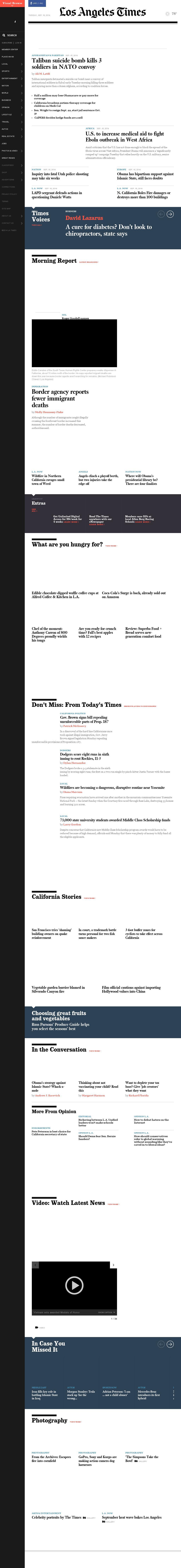 Los Angeles Times at Tuesday Sept. 16, 2014, 12:08 p.m. UTC