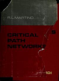 Cover of: Critical path networks | Rocco L. Martino