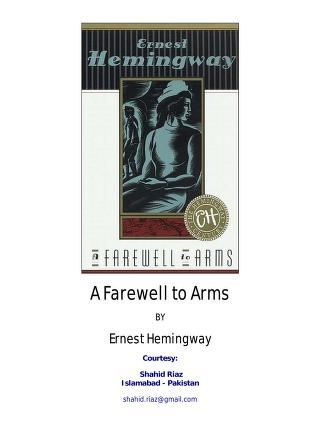 Cover of: A farewell to arms | Ernest Hemingway