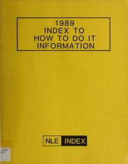 Cover of: How to Do It Information | Norman M. Lathrop