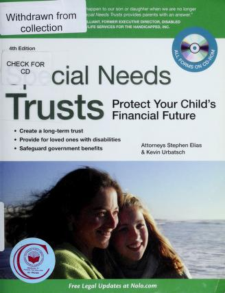 Cover of: Special needs trusts | Stephen Elias