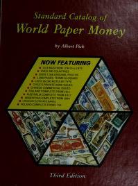 Cover of: Standard catalog of world paper money | Albert Pick