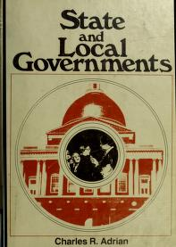 Cover of: State and local governments | Charles R. Adrian